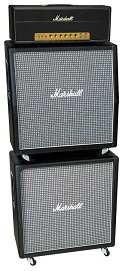 Marshall Plexi 1959SLP, 1960AX and 1960BX Tube Guitar Full Stack
