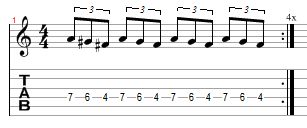 beginner solo picking tab