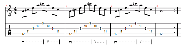 Major Arpeggio Sweep Picking