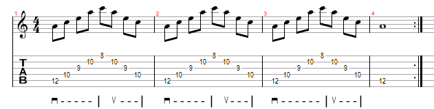 Minor Arpeggio Sweep Picking