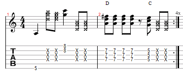 triad a minor dorian 2